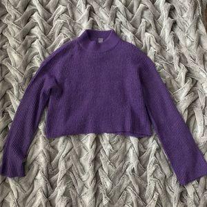 H&M Purple Cropped Sweater